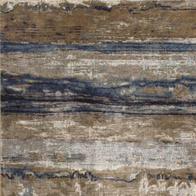 Bernadette Ivory/Blue 7 ft. x 11 ft. Rectangle Faux Fur Area Rug
