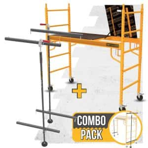 Safeclimb 6 ft. x 6 ft. x 2.5 ft. Baker Style Scaffold 1100 lbs. Capacity with Scaflock