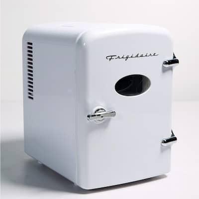 0.3 cu. ft. 6-Can Retro Mini Fridge without Freezer in White