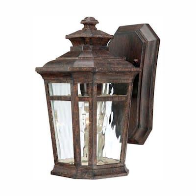 Waterton 1-Light Dark Ridge Bronze Outdoor Wall Lantern Sconce
