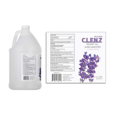 Clenz 1 Gal. Lavender Scented Instant Gel Hand Sanitizer (4-Pack)