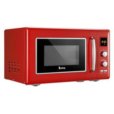 0.9 cu. ft. Retro Over the Counter Microwave with Display in Red