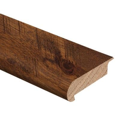 Barrett Hickory 3/8 in. Thick x 2-3/4 in. Wide x 94 in. Length Hardwood Stair Nose Molding Overlap