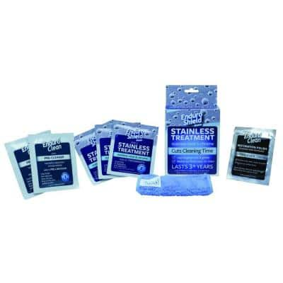 Stainless Steel Treatment Kit with 3-Coating and 3-Cleaning Wipes for Fridges and Appliances
