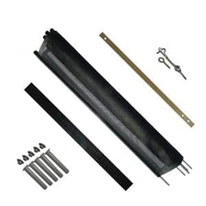 4 ft. H x 12 ft. W Pool Fence DIY Section in Black with 5 Poles Featuring a Steel Pin at the Base for a 1/2 in. Hole