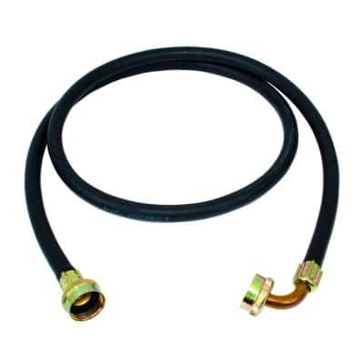 5 ft. EPDM Rubber Washing Machine Hose with Elbow