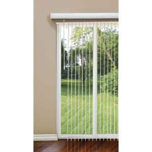 White Room Darkening 3.5 in. Vertical Blind Kit for Sliding Door or Window - 104 in. W x 84 in. L