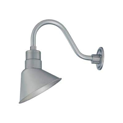 R Series 1-Light 11 in. Galvanized Angle Shade