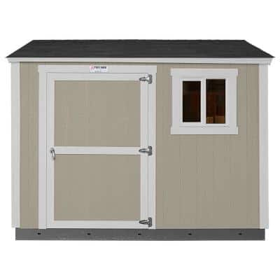 Installed The Tahoe Series Tall Ranch 8 ft. x 10 ft. x 8 ft. 6 in. Painted Wood Storage Building Shed and Sidewall Door