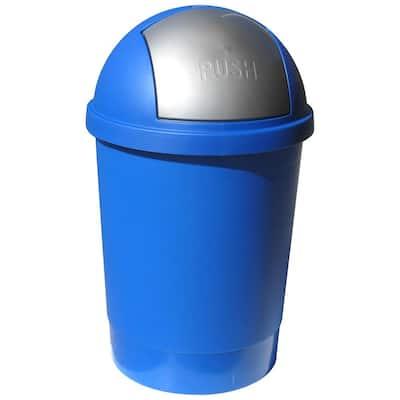 13.2 Gal. Blue Swivel Lid Trash Can