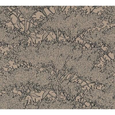 Strippable Hornbeam Brown Tree Wallpaper
