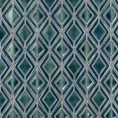 Delphi Jewel Deep Emerald 12 in. x 16 in. Polished Ceramic Mosaic Tile (1.19 sq. ft./Sheet)