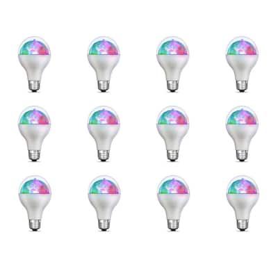 5-Watt E26 Medium Base Multi Color Rotating Disco Party LED Light Bulb (12-Pack)