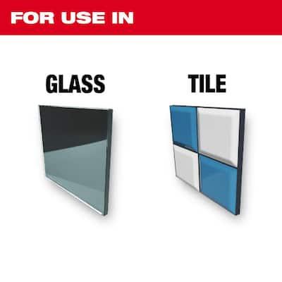 Carbide Glass and Tile Bit Set (4-Pack)