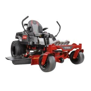 TITAN 48 in. IronForged Deck 26 HP Commercial V-Twin Gas Dual Hydrostatic Zero Turn Riding Mower with MyRIDE