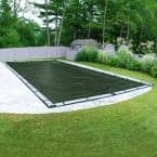 Dura-Guard 25 ft. x 50 ft. Rectangular Green Solid In-Ground Winter Pool Cover