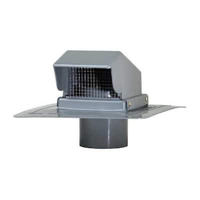 4 in. Gray Plastic Roof Cap Vent