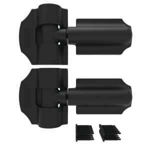 8.9375 in. x 4.25 in. Heavy Duty Black Contemporary Gate Hinge (2-Pack)