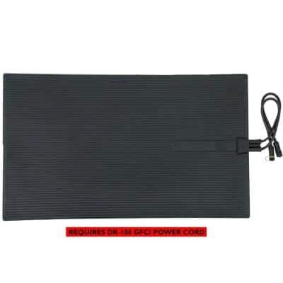 Blue 23 in. x 40 in. 300-Watt Electric Heated Rubber Snow and Ice Melting Mat