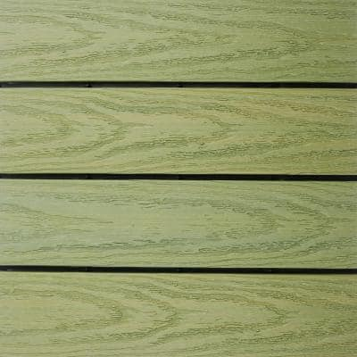 UltraShield Naturale 1 ft. x 1 ft. Quick Deck Outdoor Composite Deck Tile Sample in Irish Green