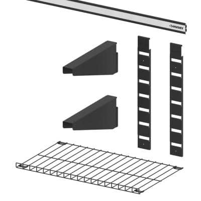 Garage Wall Track 1-Shelf Value Kit (6-Pieces)