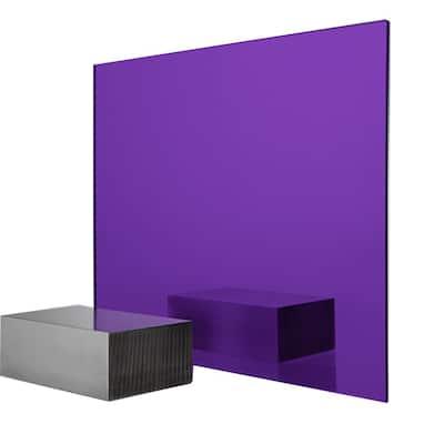24 in. x 48 in. x 0.118 in. Purple Acrylic Mirror