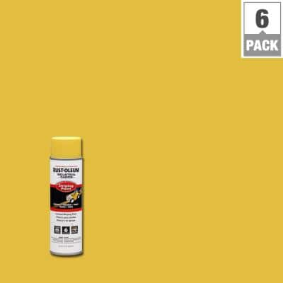 17 oz. S1600 System Yellow Inverted Striping Spray Paint (6-Pack)