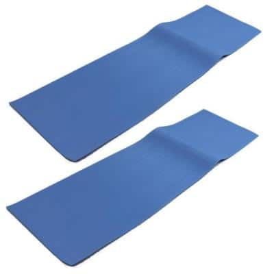 Hydro Tools 9 in. x 36 in. Vinyl Rectangular Standard Bead Above Ground Swimming Pool Ladder Mat (2-Pack)
