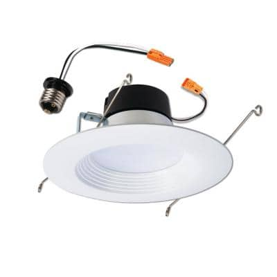 LT 5 in. and 6 in. 2700K Integrated LED White Recessed Ceiling Light Retrofit Trim, Warm White