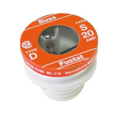 S Series 20 Amp Plug Fuses (2-Pack)