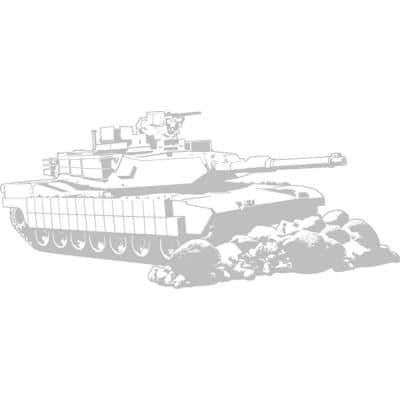 21.5 in. x 48.5 in. Tank Sudden Shadow Wall Decal