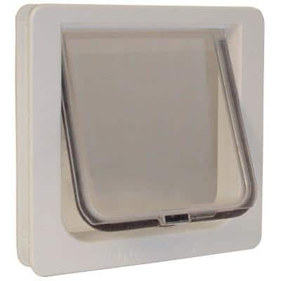 6.25 in. x 6.25 in. Small Cat Flap Cat Door with Plastic Frame And Rigid Flap