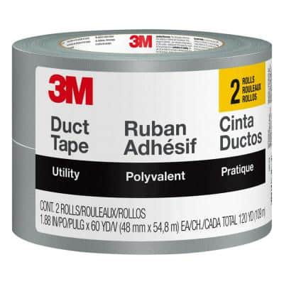 1.88 in. x 60 yds. Utility Duct Tape (2-Rolls/Pack)