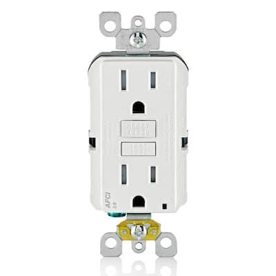 15 Amp Tamper Resistant AFCI Outlet, White
