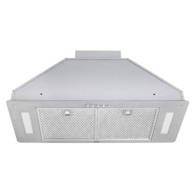 30 in. 550 CFM Insert Range Hood in Stainless Steel with Honeycomb Filters