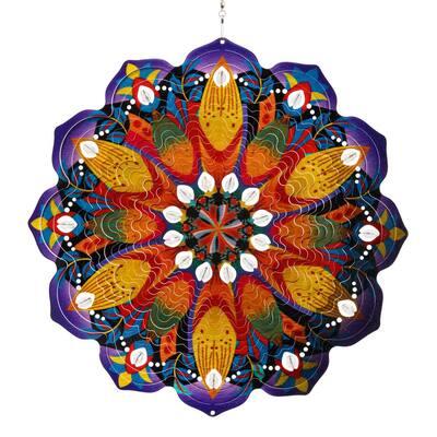 Colorful Pinwheel Metal Spinner