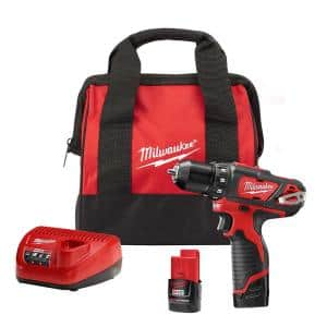 M12 12-Volt Lithium-Ion Cordless 3/8 in. Drill/Driver Kit with Two 1.5 Ah Batteries, Charger and Tool Bag