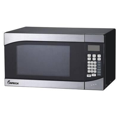 .9 cu. ft Countertop Microwave in Stainless Look with Preset Menus
