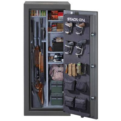 24-Gun Fire/Waterproof Back-Lit Electronic Lock Safe, Gray Pebble