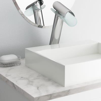 Morgana Single Hole Single-Handle High-Arc Vessel Bathroom Faucet in Chrome
