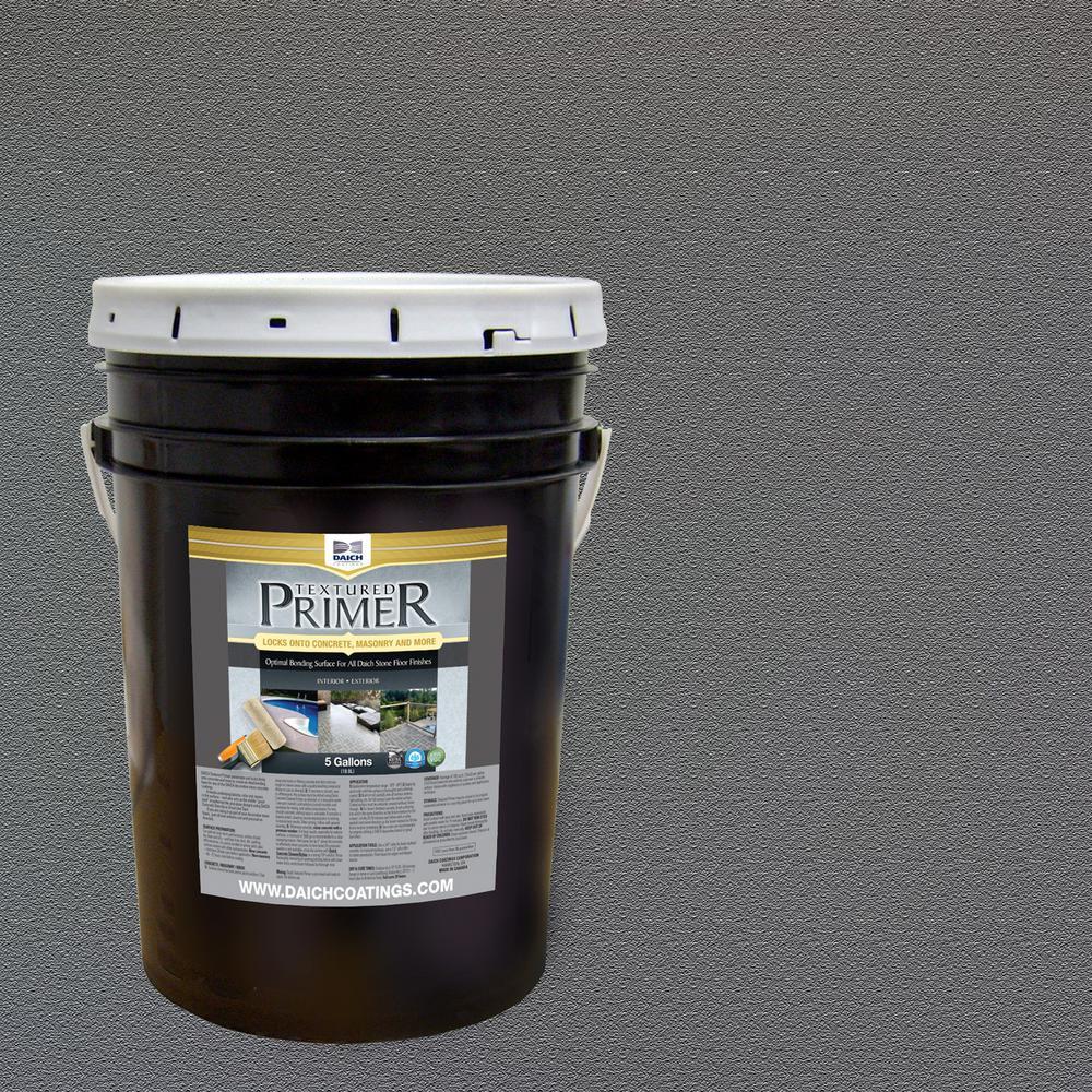 Textured 5 gal. Charcoal Gray Interior Exterior Bonding Primer Penetrating Anti-Slip