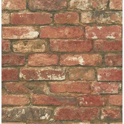 West End Brick Vinyl Peel & Stick Wallpaper Roll (Covers 30.8 Sq. Ft.)