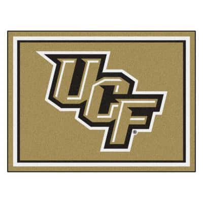 NCAA - University of Central Florida Gold 10 ft. x 8 ft. Indoor Rectangle Area Rug