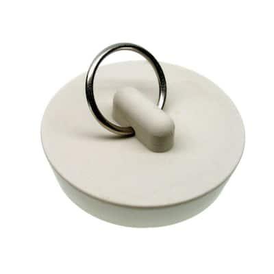 1-5/8 in. Rubber Drain Stopper in White