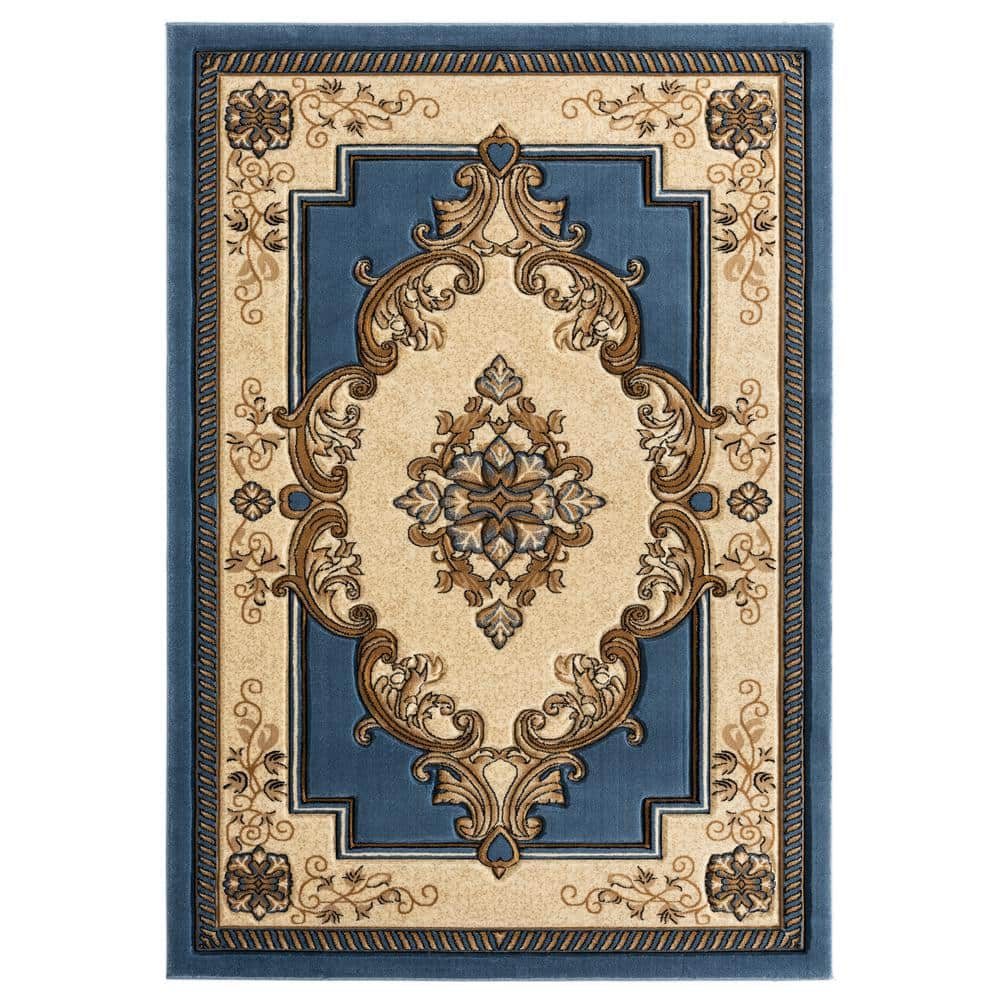 United Weavers Bristol Fallon Blue 1 Ft 10 In X 2 Ft 8 In Accent Rug 2050 10560 24 The Home Depot