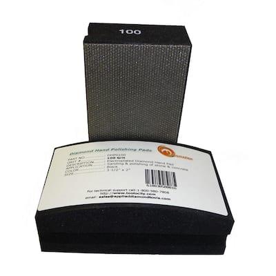 100-Grit Diamond Hand Polishing Pads Block Type