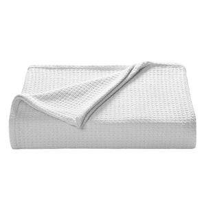 Bahama Coast White Woven-Cotton Full/Queen Blanket
