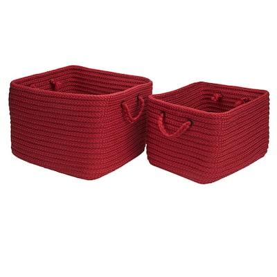 16 in. x 12 in. x 10 in. Modern Mudroom Polypropylene Storage in Deep Red