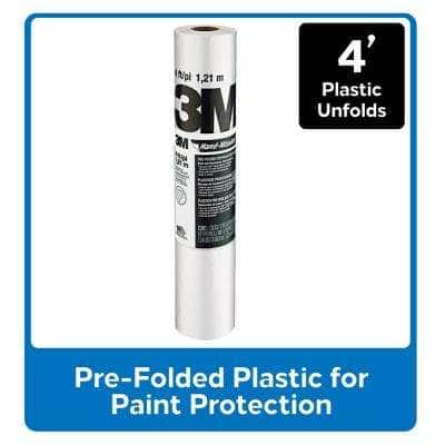 Hand-Masker 4 ft. x 180 ft. Contractor's Plastic (12-Pack)