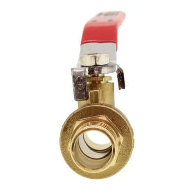 3/4 in. PEX Full Port Brass Ball Valve With Red Handle